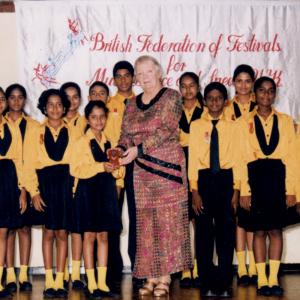 Allison adjudicating in Colombo, Sri Lanka
